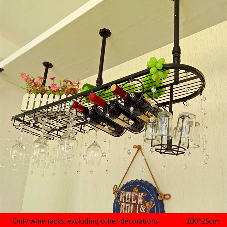 YYHSND European Bar Wine Rack Wine Rack Hanging Ornaments Modern Minimalist High Wine Rack red Wine Rack (Size   100  25cm)