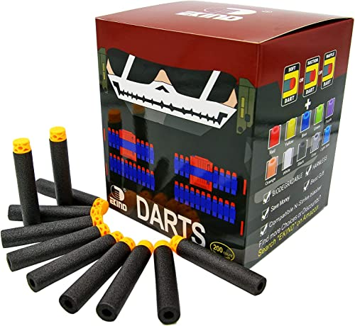 EKIND 200 Pcs 7.2cm  TPR Waffles Soft Head Darts Refill Foam Bullet Compatible for Nerf N-Strike Elite AccuStrike Ser...