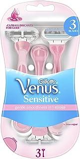 Gillette Venus Sensitive Women's Disposable Razors, 3 Pack