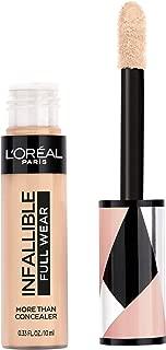 L'Oréal Paris Makeup Infallible Full Wear Concealer, Full Coverage, EXTRA LARGE Applicator, Waterproof, Multi-Use Concealer to Shape, Cover, Contour & Sculpt, Matte Finish, Bisque, 0.33 fl. oz.