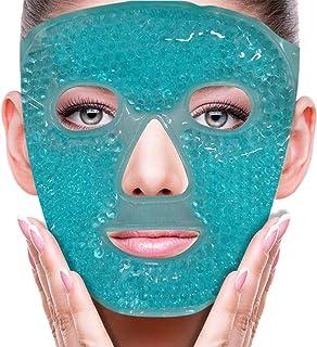 ماسك بارد للعين والوجه، يقلل من انتفاخات الوجه، والهالات السوداء، وحبيبات الجل، حزمة ضغط الحرارة والباردة، ماسكات سبا للوج...
