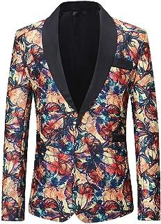 Men's Blazer Slim Fit Casual One Button Suits Coat Solid Blazer Business Jacket Goosun Men's Dinner Jacket Floral Blazer T...