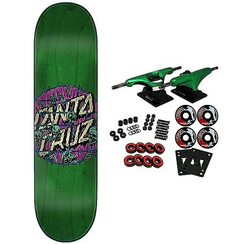 Santa Cruz Skateboard Complete Abyss Dot Green 8.0