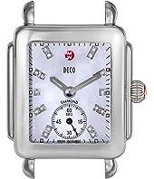 Michele - Deco 16, Diamond Dial Silver/Steel Watch Head