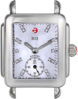 Michele - Deco 16, Diamond Dial Silver/Steel Watch Head