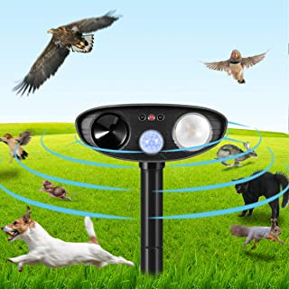 Clever sprouts Dog Cat Repellent, Ultrasonic Animal Repellent with Motion Sensor and Flashing Lights Outdoor Solar Powered...
