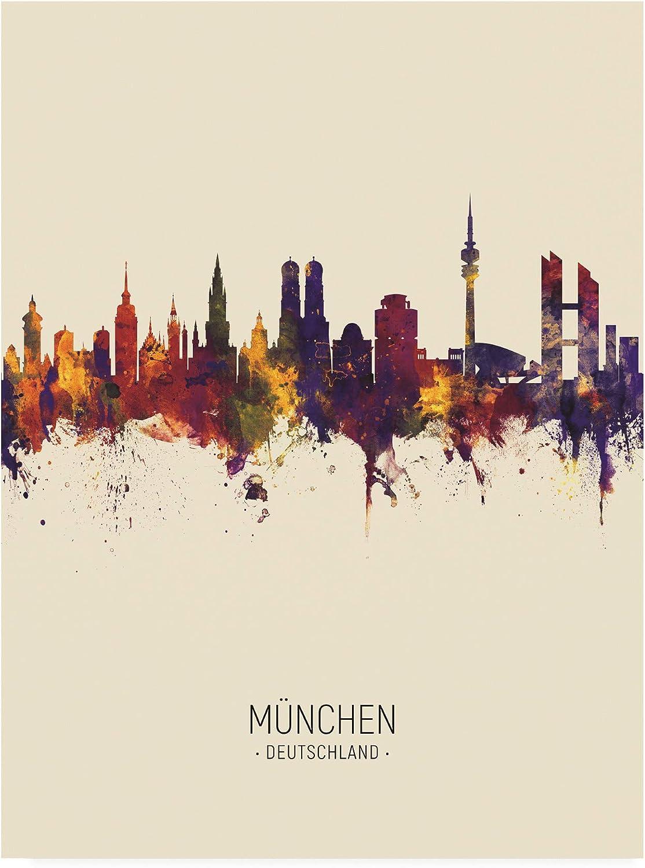 Trademark Fine Art Munich Germany Skyline Portrait III