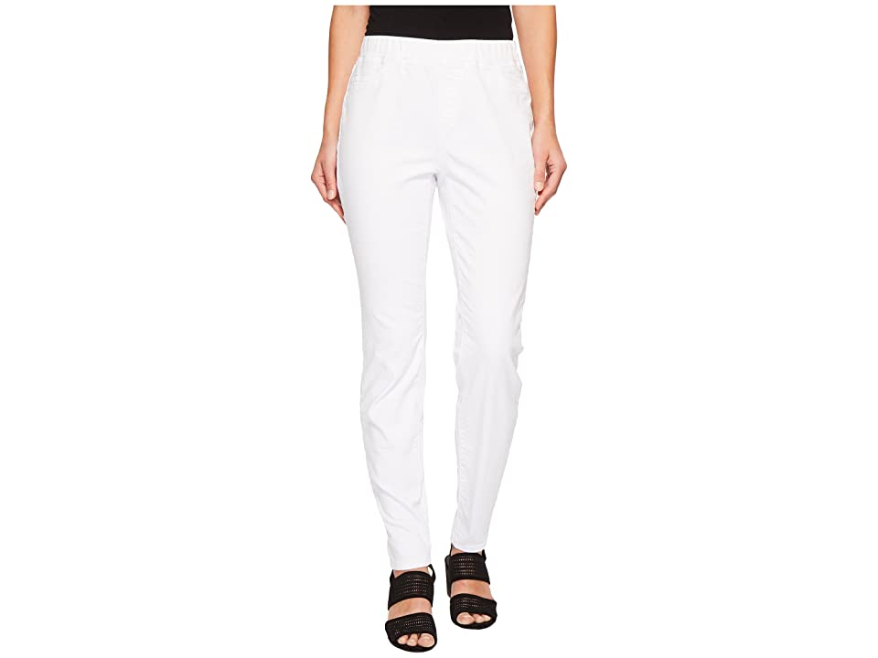 Eileen Fisher Stretch Organic Cotton Denim Skinny Pants (White) Women