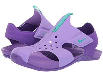 Nike Kids Sunray Protect 2 (Little Kid) (Atomic Violet/Hyper Jade/Hyper Grape) Girls Shoes