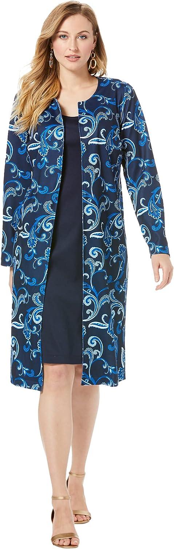 Jessica London Women's Plus Size Ponte Jacket Dress Suit