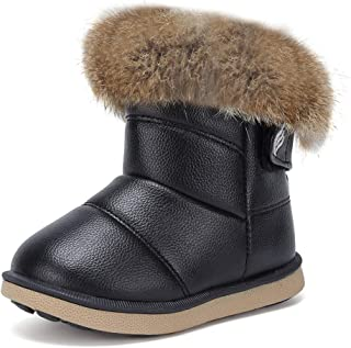 أحذية برقبة عالية للأطفال من CIOR شتوية دافئة للأطفال حذاء برقبة على شكل زر في الهواء الطلق