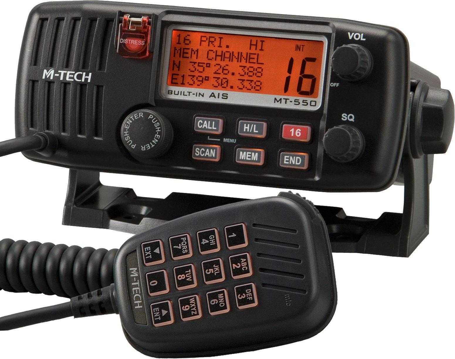 M-Tech MT550 Fixed DSC/VHF - Teléfono por Radio con Sistema de identificación automática Integrado: Amazon.es: Deportes y aire libre