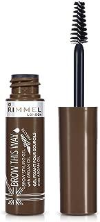 Rimmel London, Brow This Way Eyebrow Gel with Argan Oil, Medium Brown