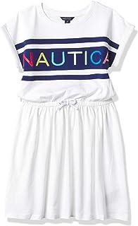 Nautica girls Cap Sleeve Logo Dress Casual Dress