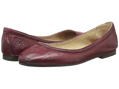 Frye Carson Ballet (Burnt Red Antique Soft Vintage) Women