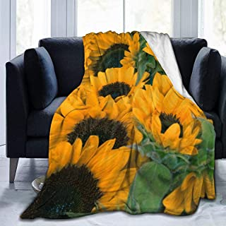 Sunflowers 60X50 Super Soft Blanket Flannel Decorative Bedspread Throw Quilt All Season Warm and Cozy Quilt Blanket for Couch Bed Sofa,Well Gifts for Women Or Men