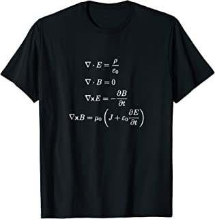 Maxwell's Equations Differential Science and Math T Shirts