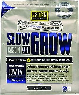 Protein Supplies Australia Pure Slow and Grow Casein Powder 1 kg , , Pure 1 kilograms