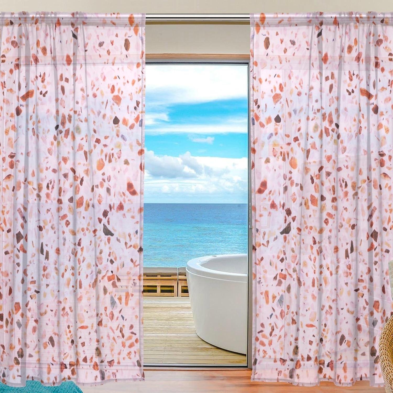 Vantaso Sheer Curtains 78 inch Long Quartz Vein Pattern for Kids Girls Bedroom Living Room Window Decorative 2 Panels