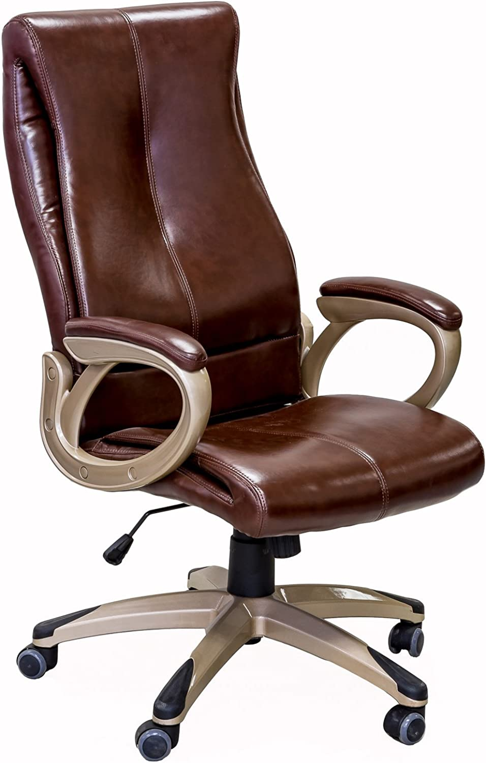 Viscologic Series YS-8709 Executive Swivel Office Chair (Brown)