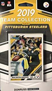 Pittsburgh Steelers 2019 Donruss Factory Sealed 10 Card Team Set with Ben Roethlisberger, Terry Bradshaw and a Devin Bush Rated Rookie Plus 7 Other Cards