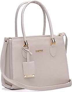 Bolsa Feminina Dhaffy Branco, Divisórias, Alça de Mão e Transversal cor:branco;tamanho:G