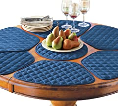 Collections Etc Kitchen Table Placemat and Centerpiece Set - 7 Pc, Blue