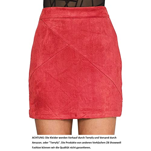 3f74f7202e Simplee Apparel Women's Suede High Waist Faux Leather Bodycon Pencil Short  Mini Skirt