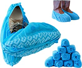 Blue Shoe Guys Disposable Boot & Shoe Covers, 100 Pack (50 Pairs) | Non Slip Foot Booties, Water Resistant, Indoor/Outdoor, Protects Carpets/Floors | Large Size Fits Most - upto US Men 11.5 Women 12.5