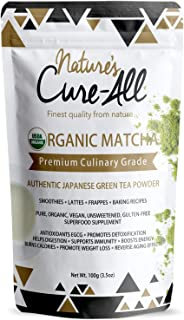 Organic Matcha Green Tea Powder, Premium Japanese Tea Matcha Latte, 1st Harvest Culinary Grade, Support Weight Loss, Boost...