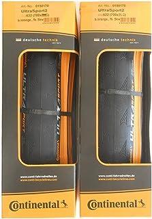 2本セット Continental(コンチネンタル) UltraSport2 オレンジカラー ウルトラスポーツ2 700c クリンチャー [並行輸入品]