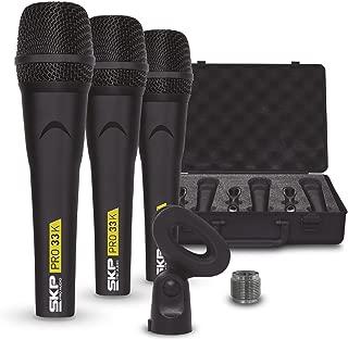 SKP Pro Audio PRO-33K Dynamic Cardioid Microphone Kit (3 Microphones)