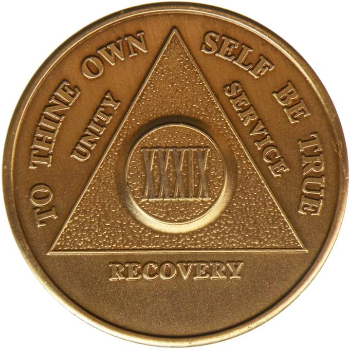 39 Al sold out. Year Bronze AA Alcoholics Anonymous - Reservation Bi Sobriety Sober