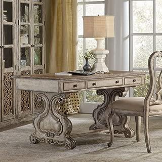 Hooker Furniture Chatelet Trestle Writing Desk in Distressed Vintage White
