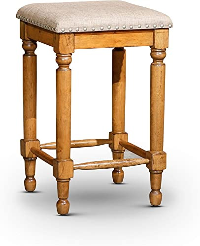 """lowest DTY new arrival wholesale Indoor Living Emerald Lake Backless Stool, 24"""" Counter Height outlet sale"""