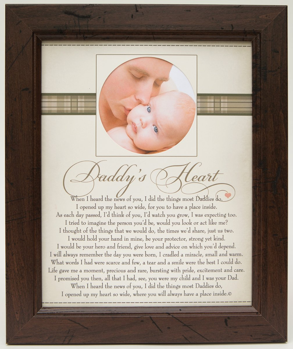 The Grandparent Gift Co. New Daddy and Baby Photo Frame