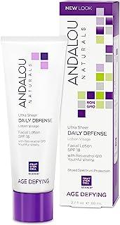 Andalou Naturals Ultra Sheer Daily Defense Facial Lotion SPF 18, 2.7 Ounces