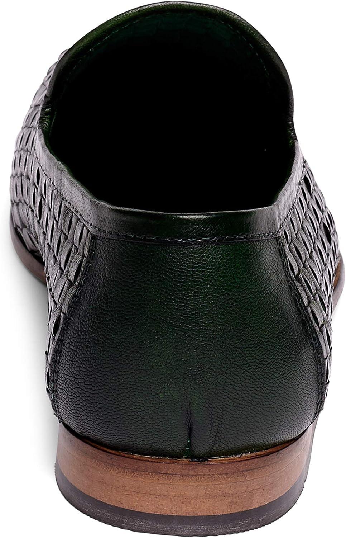 Anthony Veer Men's Theo Slip-on Moccasin Loafer Shoes