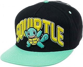 Pokemon Baseball Cap Squirtle Official Nintendo Game Boy Black Snapback aea7051b27