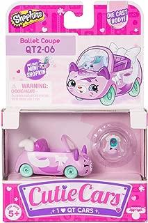 Shopkins Cutie Cars Series 2 Convertible Cutie Ballet Coupe with Exclusive Mini Shopkin QT2-06