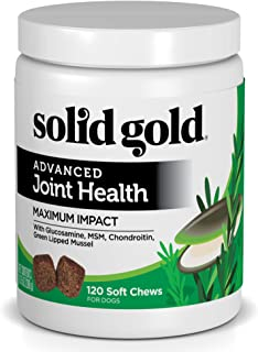 Solid Gold Glucosamine & Joint Health Chews for Dogs; Natural, Holistic Grain-Free Supplement with Glucosamine, MSM & Chon...