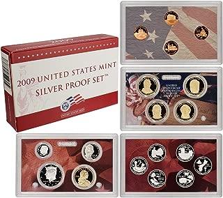 2009 S U.S. Mint Silver Proof Set - 18 Coins - OGP Superb Gem Uncirculated