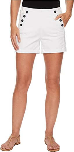 Sailor Twill Shorts in White