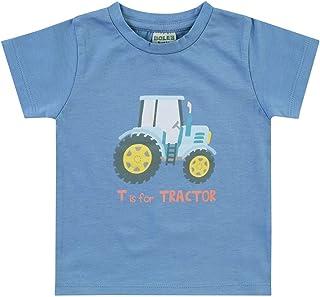 Kleine K/önige Baby Kinder T Shirt Jungen /· Modell Fuchs Waldtiere grau Ringel blau /· /Ökotex 100 Zertifiziert /· Gr/ö/ßen 62-140