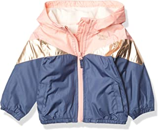 baby-girls Midweight Hooded Fashion Jacket Coat With Fleece Lining
