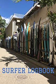 """Surfer Logbook: 6"""" x 9"""" Surfer Practice & Training Journal with Custom Interior to Record Your Surfing Session Experience (100 Pages)"""