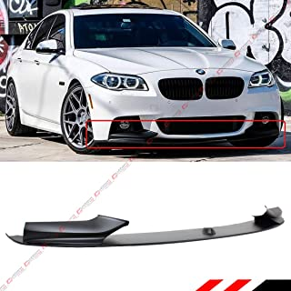 Fits for 2011-2016 BMW F10 528i/530i/535i/550i 5 Series M Sport Bumper Performance Style Front Lip Spoiler Splitter