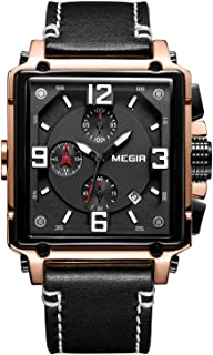 Mens Square Belt Watch Fashion Trend Big Dial Timer European and American Style Casual Quartz Watch