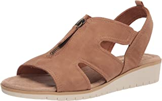 Easy Street Women's Wedge Sandal, Tan, 6.5