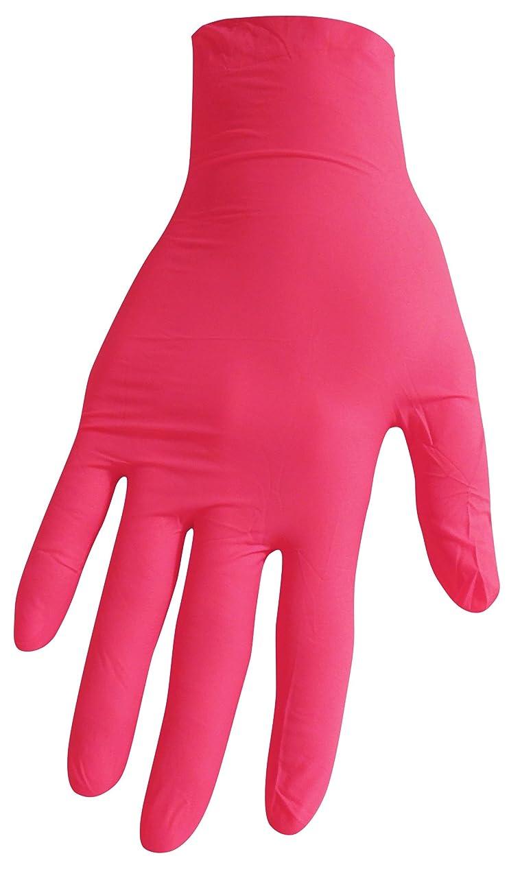 暗黙警告する経済的【箱なし発送】ニトリル極薄手袋 S?M?L 選べる6色(100枚入) (S, ローズピンク)